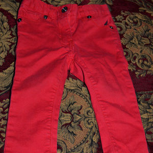 Nautica Infant Girls Red Pants, Size 12 months
